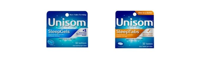 Unisom vs ZzzQuil Similarities and Differences