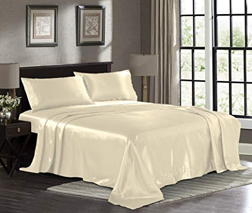 Pure Bedding Hotel Luxury Satin Sheets